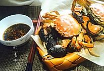 金秋美味-特别好吃的清蒸河蟹佐香油姜汁的做法