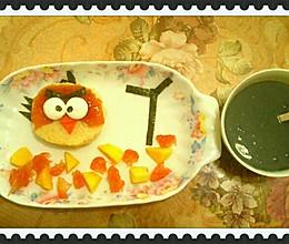 愤怒的小鸟儿童早餐的做法