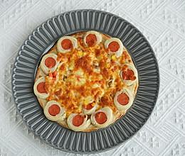 不用揉面,简单好吃的手抓饼披萨的做法