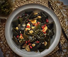 #花10分钟,做一道菜!#酸辣海带结的做法