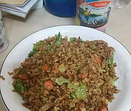 #李锦记旧庄蚝油鲜蚝鲜煮#不加其他调料的蛋炒饭的做法