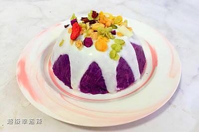 低脂坚果酸奶紫薯泥