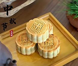 经典传统馅料月饼:豆沙蛋黄月饼的做法