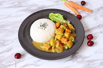 营养均衡的快手菜【咖喱鸡肉饭】