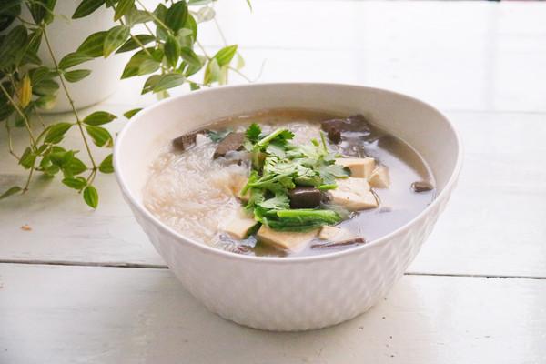 羊血豆腐粉丝汤