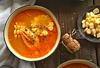承味 南瓜甜虾玉米浓汤的做法