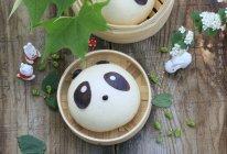 萌萌哒 ~熊猫豆沙包的做法