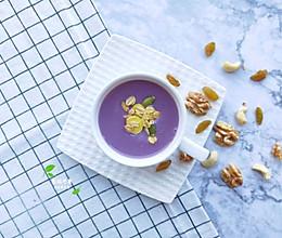 细腻柔滑的紫薯豆浆~的做法