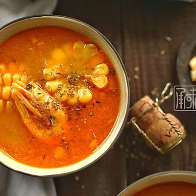 承味 南瓜甜虾玉米浓汤