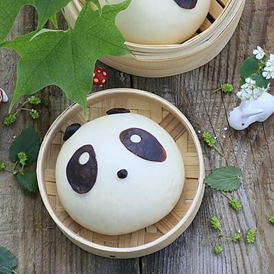 萌萌哒 ~熊猫豆沙包