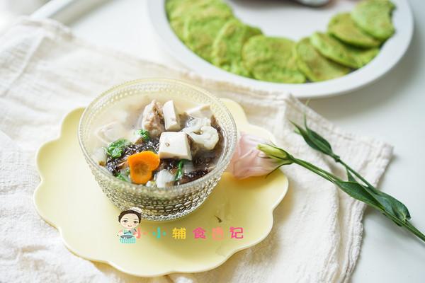 12个月以上豆腐肉丸汤的做法