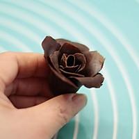 巧克力玫瑰花的做法图解9