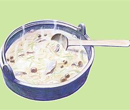 栗米羊肉粥(产后哺乳后补气血)的做法