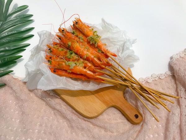 蒜香串串虾的做法