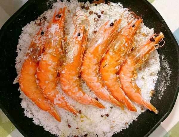 盐焗虾的做法