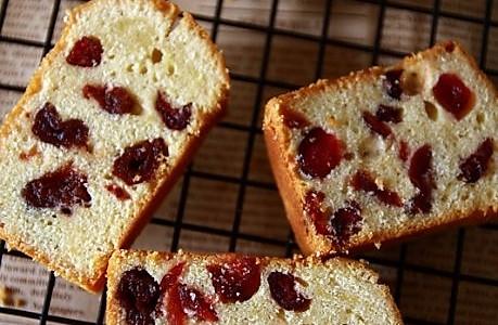 酸樱桃蔓越莓海绵磅蛋糕的做法