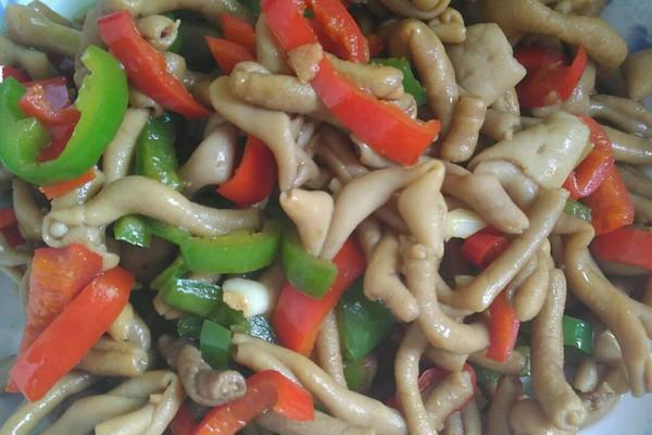 辣椒炒鸭肠的做法