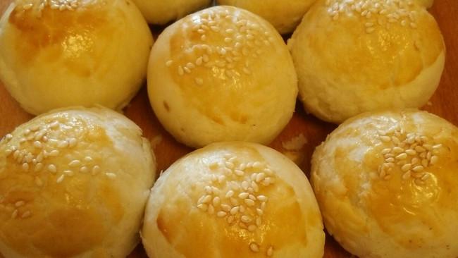 酥皮豆沙包的做法