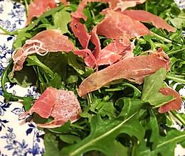 西班牙火腿芝麻菜沙拉—西餐开胃前菜的做法