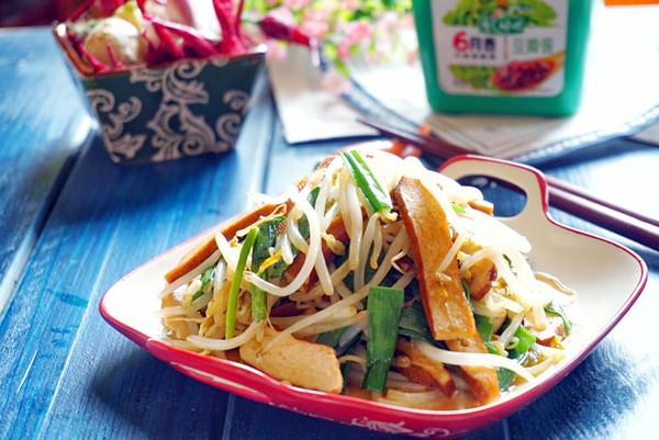 春韭菜炒豆芽香干的做法