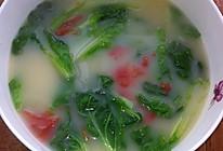 番茄鲫鱼小白菜汤的做法