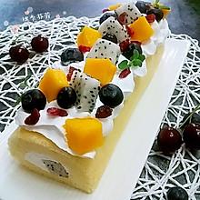 美味&颜值并存的【奶油水果蛋糕卷】