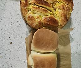 土司面包+椰蓉面包的做法