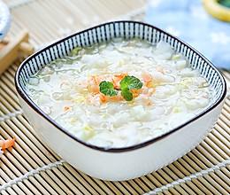 水润米片汤的做法
