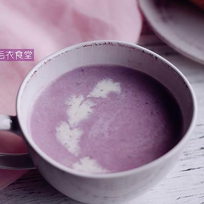紫薯燕麦牛奶粥