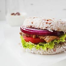 减脂期快餐牛肉米汉堡#春天不减肥,夏天肉堆堆#