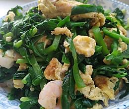 加点虾仁,就是不一样的韭菜炒鸡蛋的做法