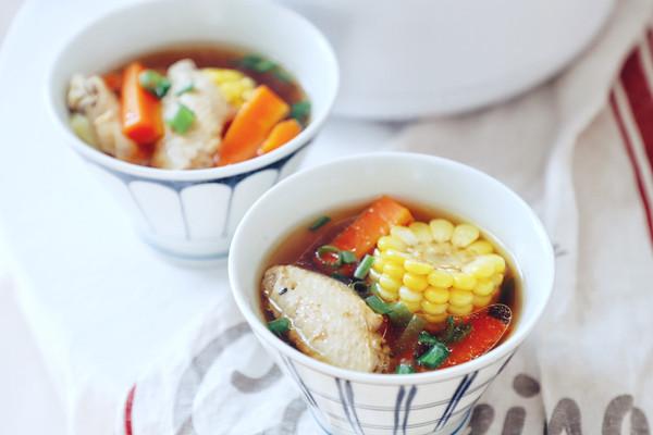 鸡翅玉米鲜汤(电饭锅版)的做法