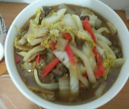 白菜烧牛肉的做法