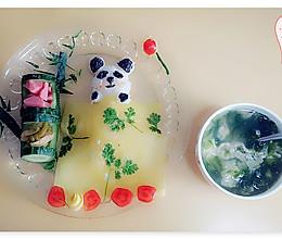 在竹林里睡觉的熊猫的做法