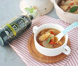 白萝卜墨鱼干汤的做法