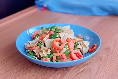 低盐少油快手菜-豆皮炒杂蔬