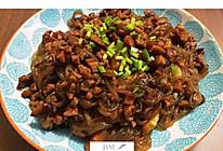 牛肉末炒粉条的做法