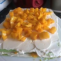 8寸生日蛋糕(方形)的做法图解5