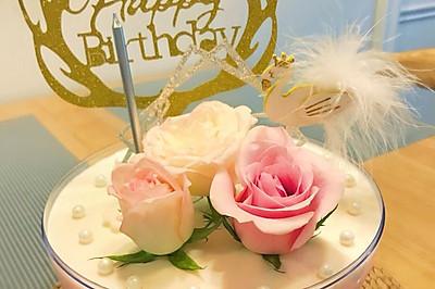 酸奶慕斯蛋糕(空心球鲜花慕斯蛋糕)