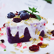 紫薯泥酸奶燕麦塔