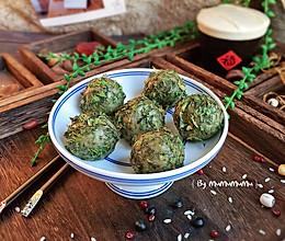芝心荠菜糯米球#带着美食去踏青#的做法