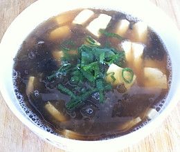 虾米紫菜豆腐汤的做法