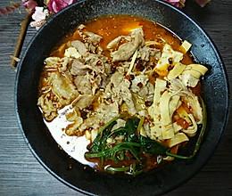 羊肉卷麻辣烫的做法