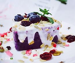 紫薯泥酸奶燕麦塔的做法