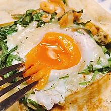 芝麻菜三文鱼咸口可丽饼