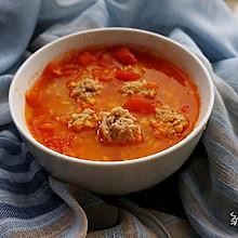苹果番茄丸子汤,酸甜可口