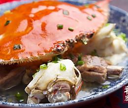 小羽私厨之糟乳排骨蒸螃蟹的做法
