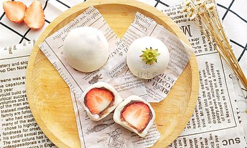 #春季食材大比拼#草莓大福的做法