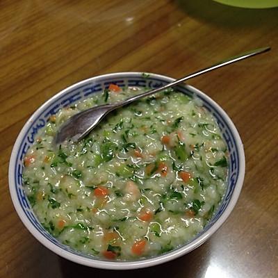 鸡毛菜胡萝卜粥