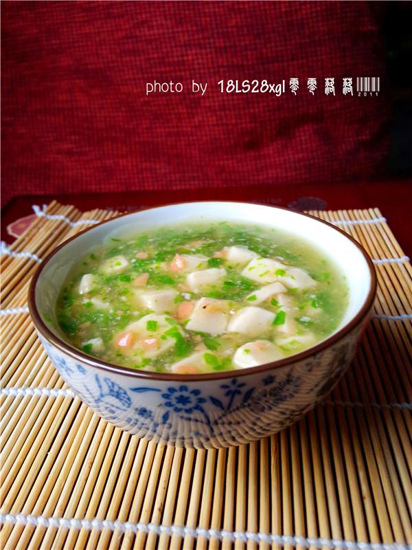 青菜火腿豆腐羹的做法